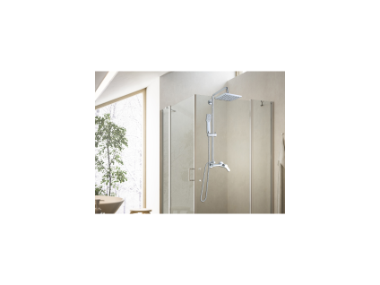 Duschpaneel Duschsäule höhenverstellbar FLIDA - Grau