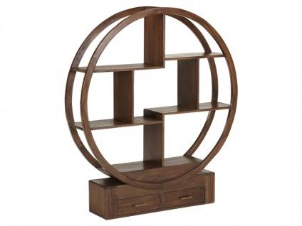Regal Raumteiler Holz Opium II - Teak massiv - 2 Schubladen