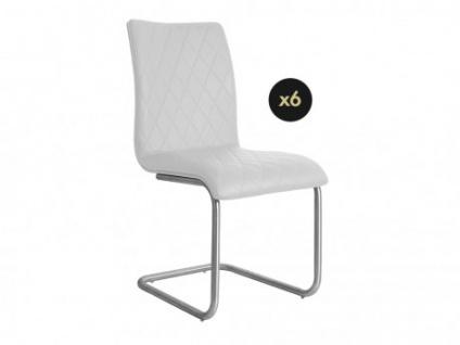 Stuhl 6er-Set WESTON - Weiß