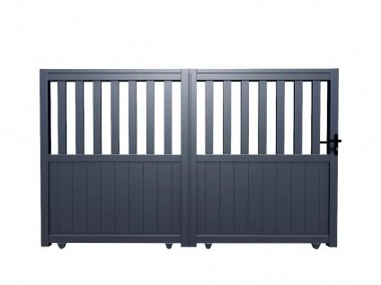 Gartentor Schiebetor TARNOS - Aluminium - B350 x H140 cm