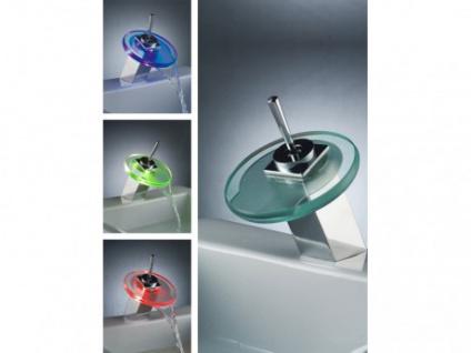 LED Wasserhahn Einhebelmischer Armatur Phuket mit Farbwechsel