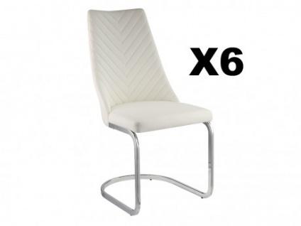 Stuhl Freischwinger 6er-Set ALFEO - Weiß