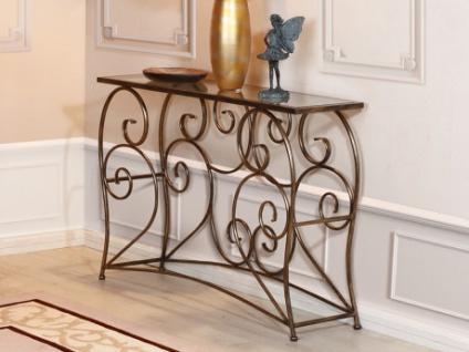 Wandkonsole Glas & Metall IMPERATRICE - Bronzefarben