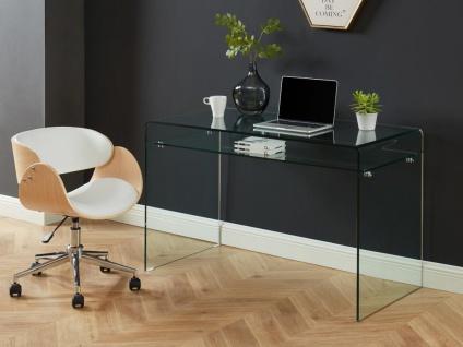 Schreibtisch STILEOS - 1 Ablage - Glas