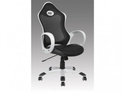 Bürostuhl Malvern - Höhenverstellbar - Schwarz-Weiß