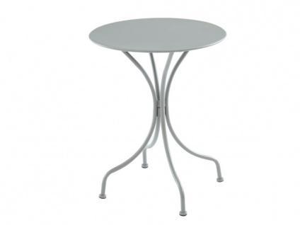Garten Essgruppe Metall MIRMANDE - Tisch D. 60 cm & 2 Stühle - Grau - Vorschau 2
