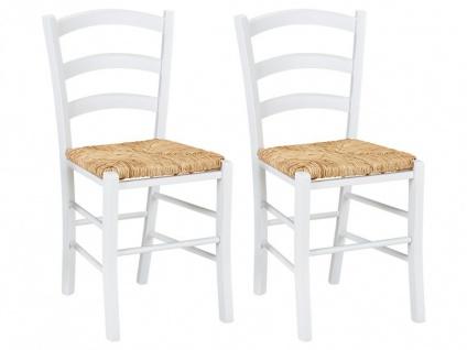 Stuhl 2er-Set Massivholz PAYSANNE - Weiß
