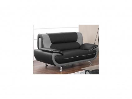 2-Sitzer-Sofa Nigel - Schwarz & Grau