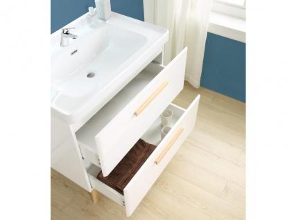 Komplettbad VATINE - Unterschrank + Waschbecken + Spiegel - Weiß - Vorschau 4