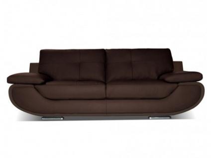 Ledersofa 3-Sitzer Orgullosa- Luxusleder - Braun
