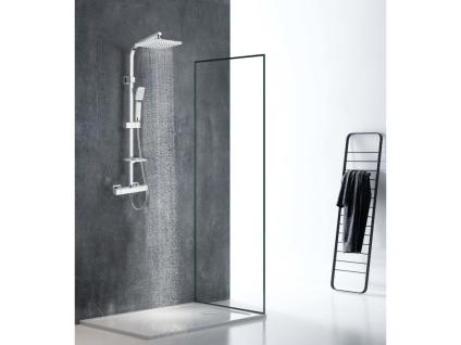 Duschsäule verchromter Edelstahl SALIMA - 109 cm