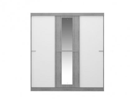 Kleiderschrank DIDDA - 3 Schiebetüren - Grau & Weiß - Vorschau 5