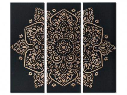 Bild 3-teilig Triptychon MANDALA - Holz - 30x90 cm