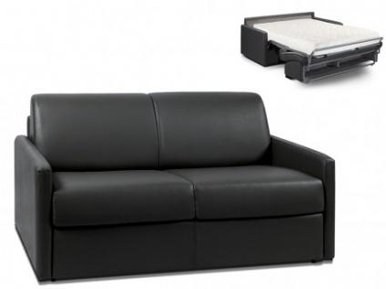 Schlafsofa 2-Sitzer CALIFE - Schwarz - Liegefläche: 120 cm - Matratzenhöhe: 18cm
