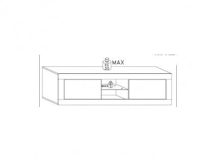 TV-Möbel mit LED-Beleuchtung COMETE - Weiß lackiert
