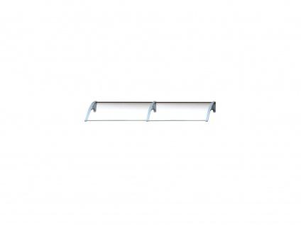 Vordach Aluminium Copalina - 280 x 92, 5 cm