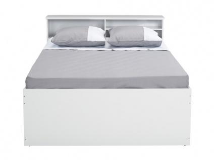 Bett mit Lattenrost & Bettkasten Boris - 140x190cm - Vorschau 5