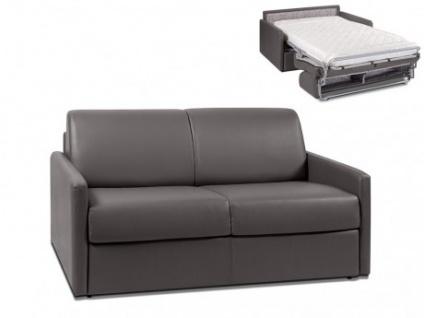 Schlafsofa 2-Sitzer CALIFE - Grau - Liegefläche: 120 cm - Matratzenhöhe: 14cm