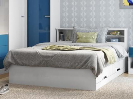 Bett mit Lattenrost & Bettkasten Boris - 140x190cm