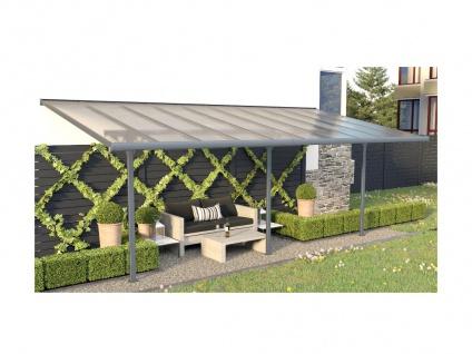Terrassendach anlehnend ALVARO - Aluminium - 18, 8 m² - Vorschau 2