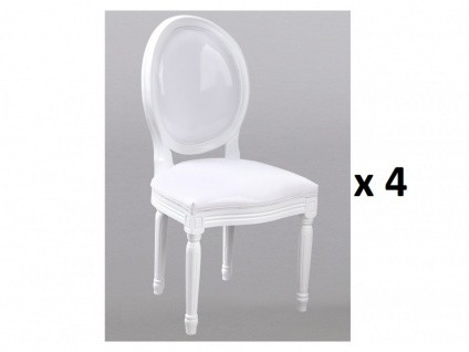 Stuhl 4er-Set Louis XVI - Weiß