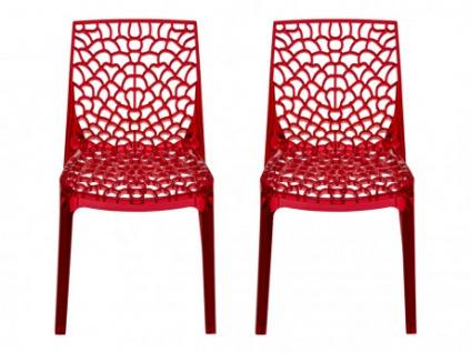 Stuhl 2er-Set Diadem - Polycarbonat - Rot