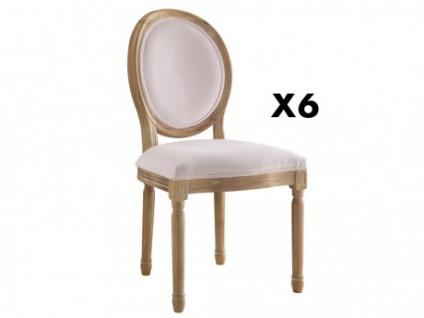 Stuhl 6er-Set Samt LOUIS XVI - Rosa