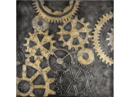 Ölgemälde MACHINE - 100x100 cm