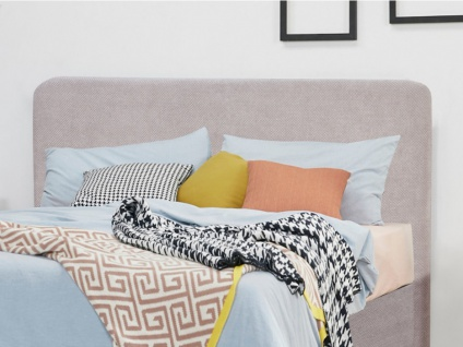 Kopfteil Bett LIVIA - Stoff - 160 cm - Grau
