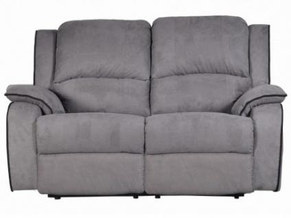 Relaxsofa Microfaser 2-Sitzer Herna - Grau
