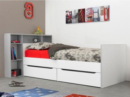 Bett mit Kopfteil und Stauraum OSCAR - 90x200cm