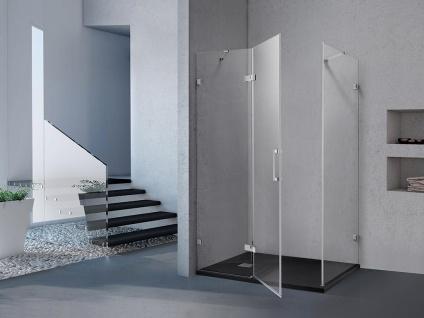 Duschtrennwand Seitenwand Eckdusche CLARINDA - 120x90x190 cm