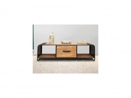 TV-Möbel CHICAGO - 1 Schublade & 2 Ablagen - Akazie & Metall - Vorschau 3