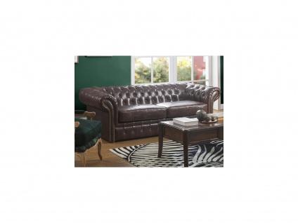 Chesterfield Ledersofa 3-Sitzer CLOTAIRE - Vintage Leder - Braun - Vorschau 4