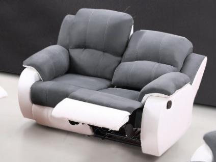 Relaxsofa Microfaser 2-Sitzer Bilston - Dunkelgrau