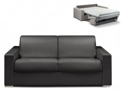 Schlafsofa 3-Sitzer CALITO - Schwarz - Liegefläche: 140 cm - Matratzenhöhe: 14cm