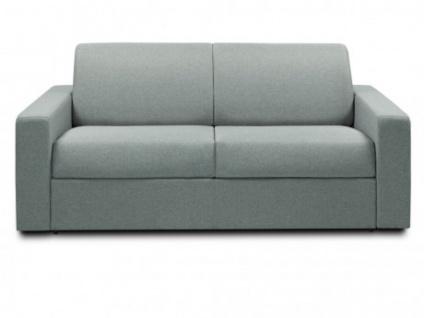 Schlafsofa Stoff Express Bettfunktion mit Matratze 3-Sitzer MANAROLA - Blau