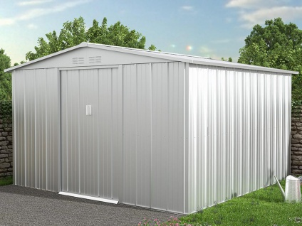 Gartenhaus Gerätehaus LINUS - Stahl - 9, 92 m²
