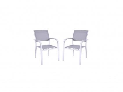 Gartensessel 2er-Set Aluminium PAIA