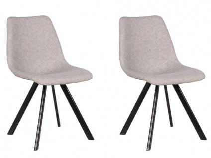 Stuhl 2er-set Lubine - Grau - Vorschau 2