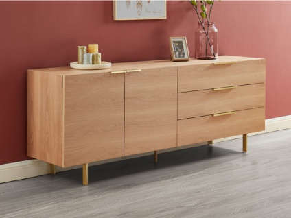 Sideboard VALOLA - Holz & Metall - Naturfarben