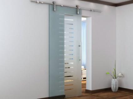 Glasschiebetür Stahlsystem Abelia - Höhe: 205 cm