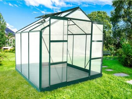 Garten Gewächshaus Aluminium Anissa - 5, 9 m² - Grün