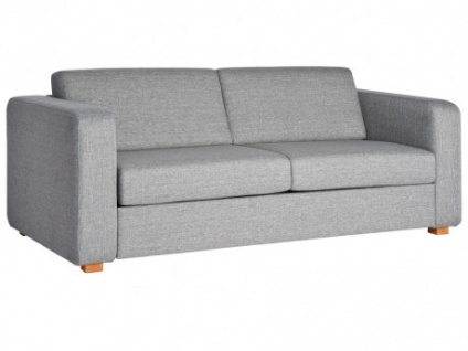 Schlafsofa 2-Sitzer-Sofa mit Express-Bettfunktion Stoff MINGOS - Grau