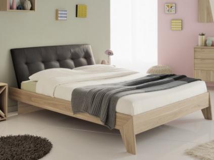 Bett mit Kopfteil REGIS - 140x190cm - Anthrazit
