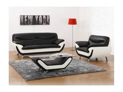 Couchgarnitur 3+1 Indiz - Schwarz & Weiß - Vorschau 1