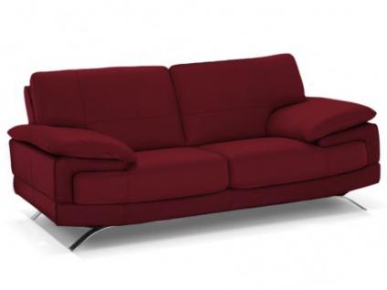 Ledersofa 2-Sitzer Emotion - Standardleder - Rot