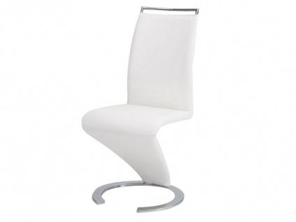 Stuhl Freischwinger 4er-Set Twizy - Weiß - Vorschau 5