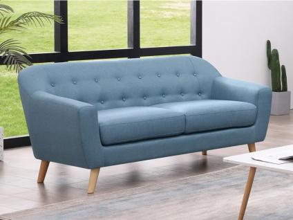 3-Sitzer-Sofa JOBY - Stoff - Hellblau
