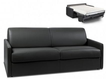 Schlafsofa 4-Sitzer CALIFE - Schwarz - Liegefläche: 160 cm - Matratzenhöhe: 18cm